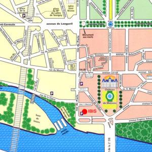 plan accès Rotary Club Maisons Laffitte