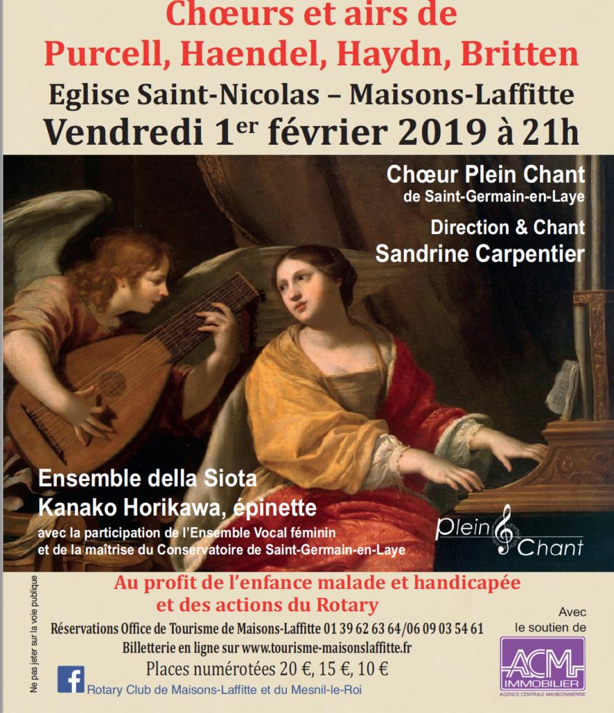 concert 2019 Rotary Club de Maisons-Laffitte